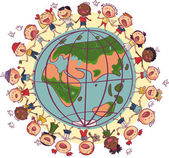 Kids around world — Stock Vector