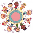 Kids circle — Stock Vector