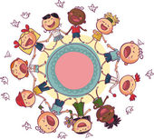 Kids circle — Stock Vector