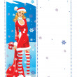 Stock Vector: Santa girl