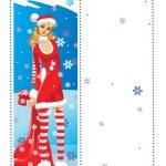Santa girl — Stock Vector