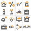 Web car icon set - Stock Vector