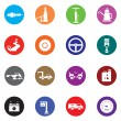 Stock Vector: Automobile icon set