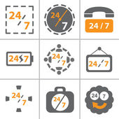 Time icon set — Stock Vector