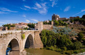 Bridge of Saint-Martin in Toledo, Spain. — Stock Photo