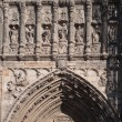 Portal gothic Cathedral Puerta de los Leones in Toledo. — Stock Photo