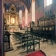 Stock Photo: Interior of Gothic church, Poland.