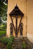 Church in Kroscienko on the Dunajec, Poland. — Stock Photo