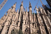 Sagrada Familia church in Barcelona, Spain. — Stok fotoğraf