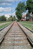 Tram lines. — Stock Photo
