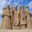 Sculptures made of sand. - Stock Photo