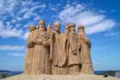 Sculptures made of sand. — Stock Photo