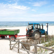 Tractor on the beach. — Stock Photo
