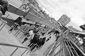 在城市人群. — 图库照片