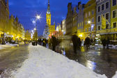 Night view of Gdansk. — Stock Photo