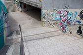 Gdansk Zaspa graffiti underpass. — Stock Photo