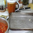 Stockvideo: Preparation of lasagne.