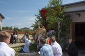 Religious procession at Corpus Christi Day. — Stock Photo
