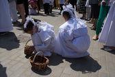 Religious procession at Corpus Christi Day. — Stock Photo