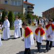 Stock Photo: Religious procession at Corpus Christi Day.