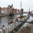 Reconstruction of quays in city center. — Stock Photo #32228429