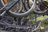 Ruta en bicicleta en gdansk. — Foto de Stock