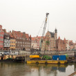 Reconstruction of quays in city center. — Stock Photo #32241779