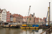 Reconstruction of quays in the city center. — Stock Photo
