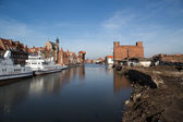 Gdansk harbor, Poland — Stock Photo