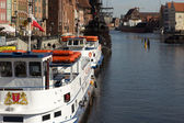 Gdansk harbor, Poland — Stock Photo