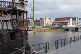 De haven van Gdansk, Polen — Stockfoto