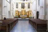 Inside Catholic church. — Foto de Stock