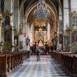 Inside Catholic church. — Lizenzfreies Foto