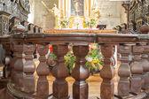 Inside Catholic church. — Stock Photo