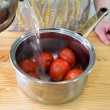 Preparing tomatoes. — Stock Photo #44294795
