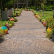 Stock Photo: Decoration on walkway