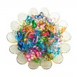Colorful wire ribbon heart — Stockfoto
