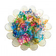 Colorful wire ribbon heart — Stock fotografie