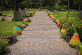 Decoration on a walkway — Stock Photo