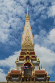 Pagoda of chalong temple — Stock Photo