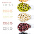 Stock Photo: Different beans in white spoon