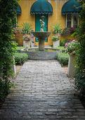De tuin infront een huis — Stockfoto