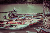 Long tail boats — Stock Photo