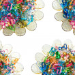 Colorful wire ribbon heart — ストック写真