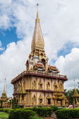 Holy pagoda at chalong temple — Stock Photo