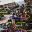 Row of go-carts — Stock Photo