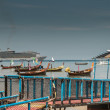 Stock Photo: Floating platform at patong pier with many boat, phuket