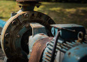 Old rust water pump — Stock Photo