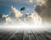 Parachute on the sky, success concept — Stock Photo
