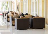 Modern seat in lobby — Stock Photo